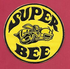 "New Dodge 'SUPER BEE' Yellow  3"" Inch  Iron on patch Free Shipping Mopar"