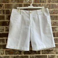LRL Lauren Jeans Co. Womens Mid Rise Bermuda Shorts White Size 14