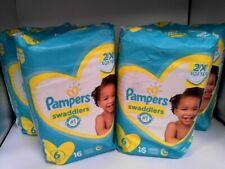 Pampers Swaddlers Size 6 (35+lb.) Diapers, 64-Pack