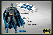 Batman Party Invitations with matching envelopes, birthday, 12pack