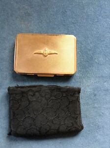WWII Stratton Royal Navy Fleet Air Arm Gold plated Sweetheart Powder Compact