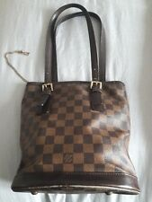 Genuine Louis Vuitton Damier Ebene Marais Bucket Bag