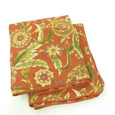 Waverly Grand Bazaar Clay Pair King Pillow Sham / French Country Floral Pattern