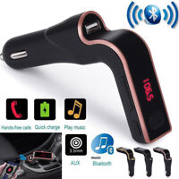 Bluetooth Car FM Transmitter Hands-free LCD MP3 Player Radio Adapter Kit Charger