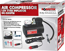 12V COMPACT AIR COMPRESSOR PUMP TYRE INFLATOR BICYCLE BALL BIKE CAR VAN NEW