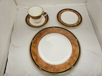 Noritake Cabot Rusty Brown Dinner Bread and Butter Plate Cup & Saucer