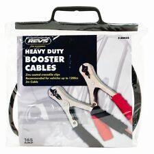 2 METRE HEAVY DUTY CAR VAN JUMP LEADS BOOSTER CABLES START BLACK & RED - New