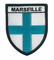 Patche écusson Marseille Massilia transfert patch OM thermocollant brodé