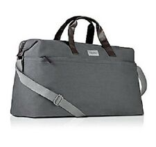NWT Calvin Klein Grey Canvas Men Duffle Bag Weekender Travel Overnight Handbag!