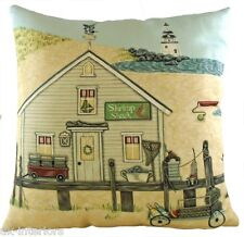 "17"" Shrimp Shack Sally Swannell Cushion Evans Lichfield DPA390 43cm Nautical"