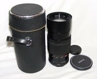 VIVITAR 200MM TELEPHOTO LENS, 42 MM SCREW FITTING WITH COVERS CASE PHOTOGRAPHY
