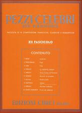 PEZZI CELEBRI Fasc. 12° - per pianoforte - Edizioni Curci