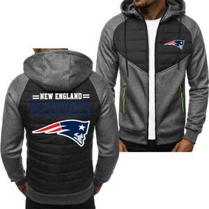 New England Patriot Hoodie Classic Autumn Hooded Sweatshirt Jacket Coat Top Tops