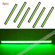 USA 3Pair 12V LED STRIP DRL DAYTIME RUNNING LIGHT FOG COB CAR LAMP DRIVING GREEN