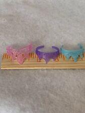 Barbie Disney Princess Doll Tiara Crown Pink Purple Blue Lot Of 3