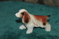 Vintage Ceramic Spaniel Dog Figure Figurine Made In Japan