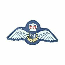 More details for raf wings sign large repro royal airforce plaque cast iron sign 35cm