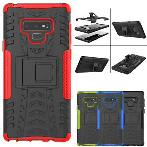 For Samsung Galaxy S8 S9 Plus Note9 Armor Shockproof Heavy Duty Stand Case Cover