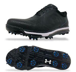 Under Armour Tempo Tour Mens Golf Shoes Size 10.5 Black/Blue 1270205-011 $219.99