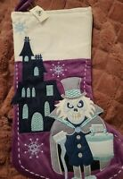 DISNEY PARKS HAUNTED MANSION GHOST PURPLE CHRISTMAS STOCKING NEW WITH TAGS