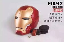 Cattoys 1/1 RC Control Open / Close LED Helmet For Iron Man MK XLII 42 Cosplay