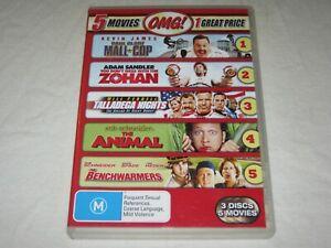 Mall Cop + Zohan + The Animal + Benchwarmers + Talladega Nights - Region 4 - DVD
