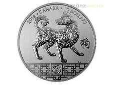 10 $ Dollaro Lunar Anno della Cane Dog Canada 1/2 Once d'argento 2018