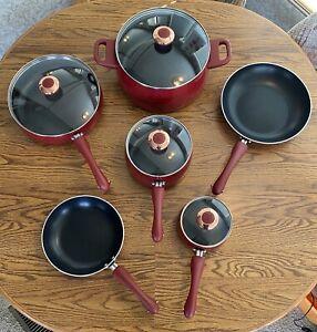 Paula Deen Nonstick Red Speckled Cookware Pots Pans Set 10 Piece 12513 Signature