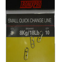 Tronixpro Quick Change Link Sea Fishing Terminal Tackle Rig Clips Size 8