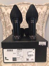Chanel Suede Double CC Logo Shoes