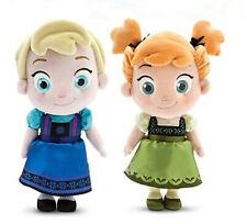 HOTSALE 2PCS 12'' Disney Frozen Elsa&Anna princess stuffed Soft Plush Dolls gift