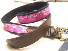 vineyard vines Kentucky Derby Run For The Roses Canvas Club Belt NWT Size 44 $65
