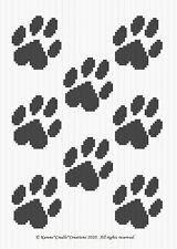 Crochet Patterns - Paw Prints Graph Afghan Pattern