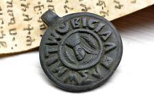 Vintage coin style Ethiopian Stone pendant ,
