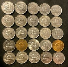 Old Canada Coin Lot - 1937-1950 - KING GEORGE VI Nickels - 25 Coins - Lot #N24
