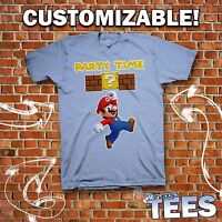 Personalized MARIO Tee - Custom Nintendo Bros Gaming T-Shirt Adults Kids Party