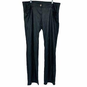 Lip Service Juniors Plus 15 Black Faux Leather Pleather Pants Goth Rocker Punk