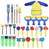 Kids Art Craft 31pcs Sponge Painting Brushes Child Painting For Toddlers Toys CH