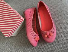 New Billieblush Girls Glitter Pompom Flat Pump Plimsolls Shoes Size UK 11 EU 30