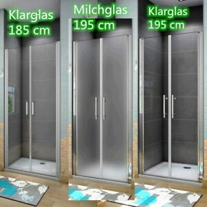 185-195 cm Nische Drehtür Duschtür Pendeltür Nano-Glas Duschwand Duschkabinen