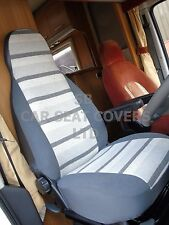 TO FIT A TALBOT EXPRESS MOTORHOME, SEAT COVERS, MH-158 GEORGE GREY STRIPE