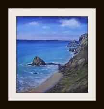 El stangles Cornwall: pintura al óleo originales por Robin Beckett Grande 50cm X 50cm