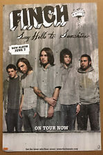 Finch Rare 2005 Promo Tour Poster Medium Stock Paper for Say Cd Usa Mint 11x17