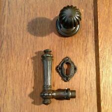 Türknauf mit Klinke für Haustür mit PZ-Rosette, Türbeschläge im Gründerzeit-Stil
