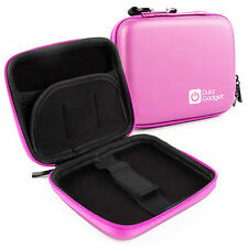 Pink Hard Case With Dual Zip For Garmin Nuvi 2200T, 1250T, 30, 1200, 2240
