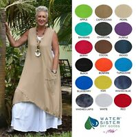 WATERSISTER Cotton Gauze BOBBI Long Layering Vest Top OS (M/L/XL/1X+)2018 COLORS