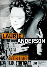 ANDERSON, LAURIE - 2001 - Konzertplakat - Life on a String - Tourposter - Stuttg