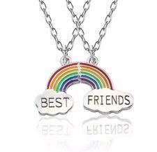 🌈 2 Piece Best Friends Rainbow Pendant & Necklace Alloy Friendship Jewellery