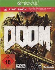 Doom Xbox One + UAC Pack-Day One Special Edition-nuevo con embalaje original versión en alemán