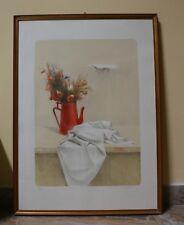 Litografia Panneggio con fiori secchi - Giovanni Cappelli - Ed. Bora - Autentica